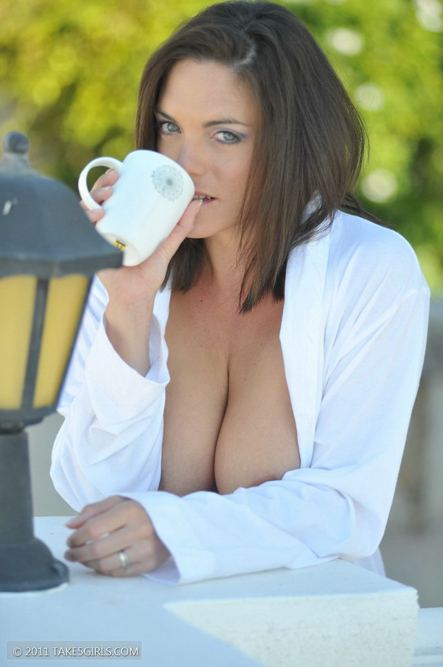 Boobs and coffee nude