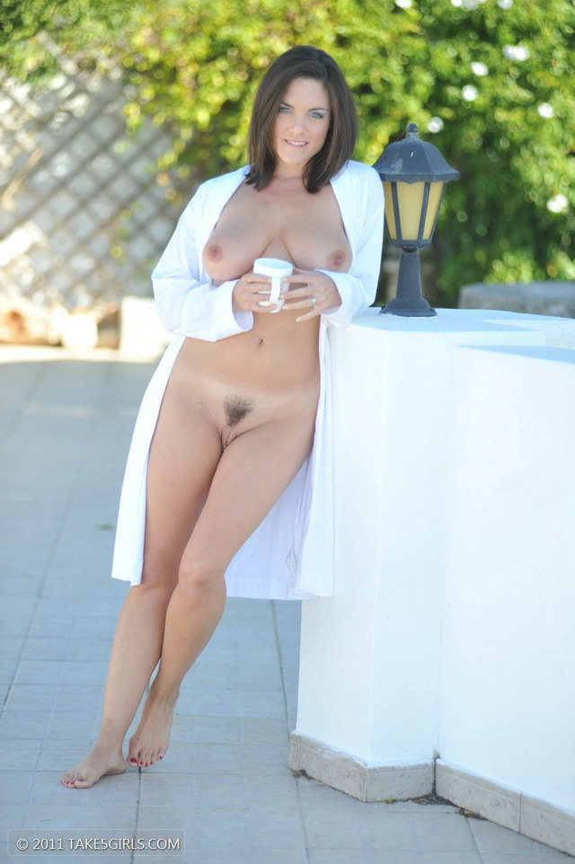 All Naked women with coffee can